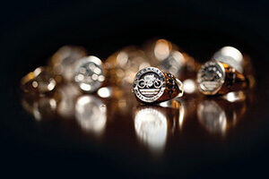Shot of Hall of Fame rings