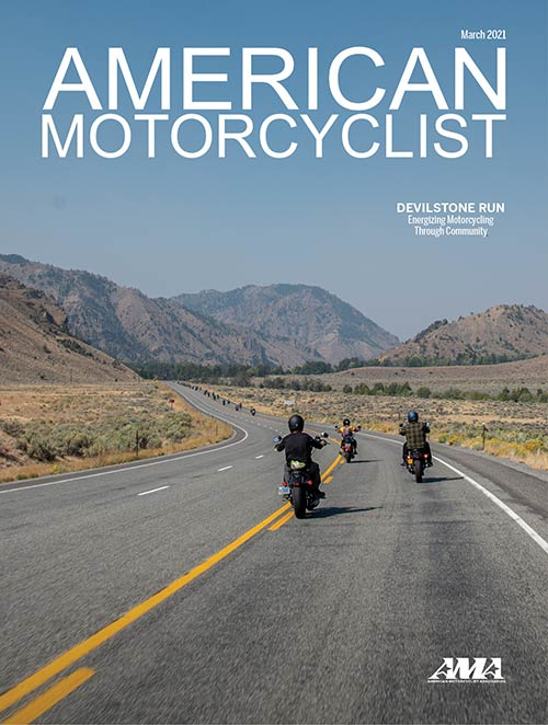 American Motorcyclist March 2021 Cover