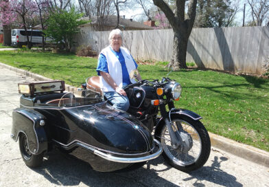 Longtime Motor Maid and AMA Supporter, Proud Owner of 1973 BMW with Sidecar