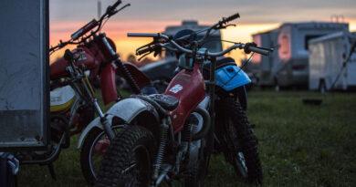 AMA Vintage Motorcycle Days sunset