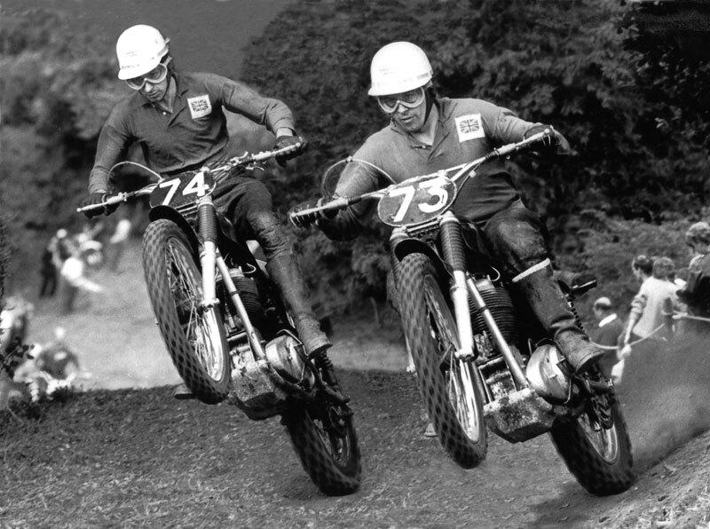 Don and Derek Rickman racing motocross