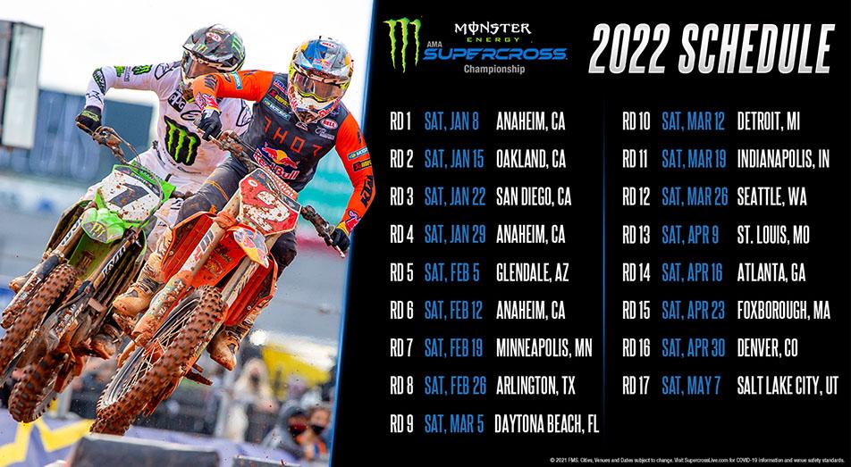 2022 AMA Supercross Schedule