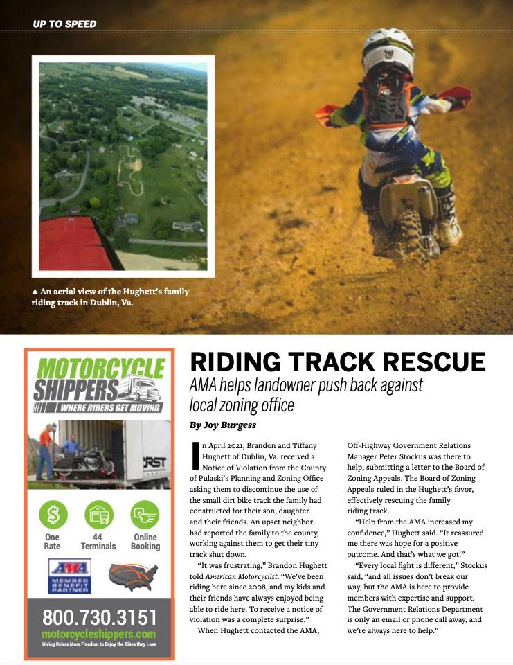Riding Track Rescue Magazine