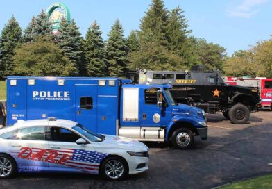 First responder vehicles showed up at AMA Motorcycle Hall of Fame Fall Bike Night