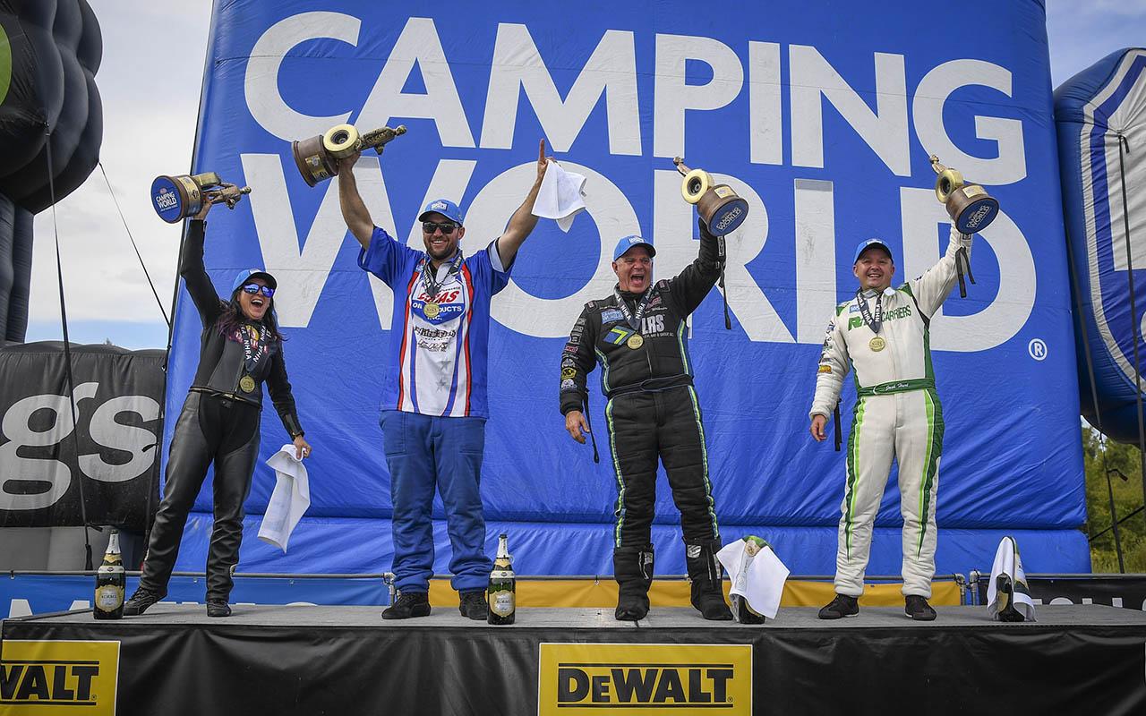 Angelle Sampey won the 2021 DeWalt NHRA Carolina Nationals