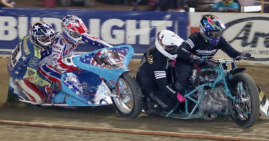 Extreme Sidecar racing at Fast Fridays Motorcycle Speedway