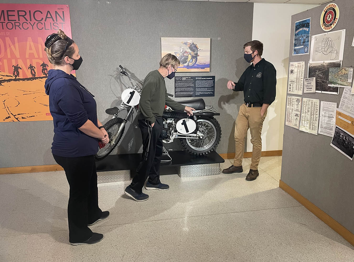 Russ Darnell visits AMA Motorcycle Hall of Fame