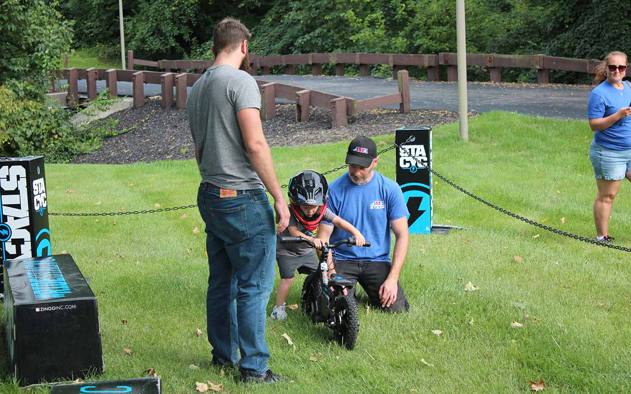 STACYC teaches young riders at AMA Motorcycle Hall of Fame Fall Bike Night