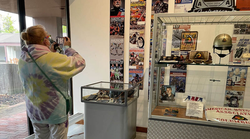 Stephanie from Fairfield Community Supports takes in the AMA Motorcycle Hall of Fame Museum