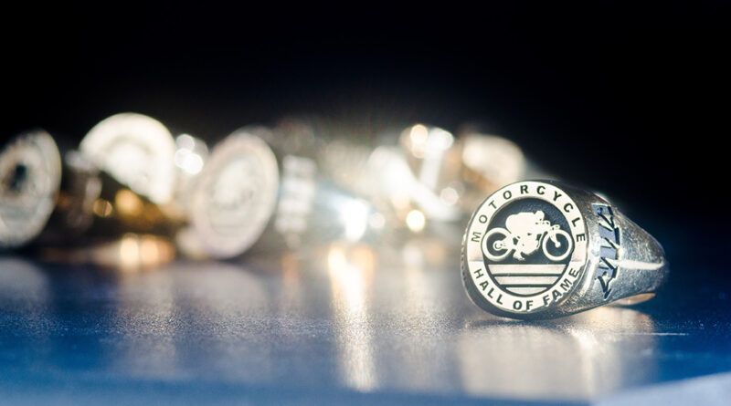 AMA Motorcycle HOF Induction Ceremony Rings